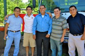 Harrison, Jager, Pastor Mauricio, Arturo, and Marvin - the compadres.