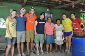 The home visit team with Rosa and Francisca