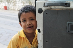 This is Danny! He's 6 years old and he is one of the 12 children that lived in the house we visited last.  Photo: Zoe Lewis